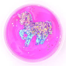 Pink Purple Glitter Unicorn Slime With Case Kawaii Mud Clay Jelly DIY 2