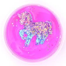 Pink Purple Glitter Unicorn Slime With Case Kawaii Mud Clay Jelly DIY 2