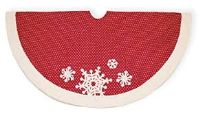 Boston International Christmas Tree Skirt 56 Inch Polka Dots Snowflake