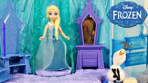 Disney Frozen Bathroom Sets by Frozen Elsa U0027s Ice Lightup Palace Featuring Olaf Play Doh Bed Toys