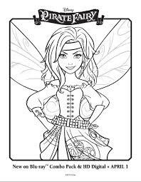 Printable Disneys The Tinkerbell Pirate Fairy Coloring Pages Picture