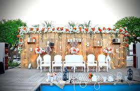 Outdoor Wedding Decoration Jakarta Venues Fairy Light Rustic Junglespirit