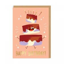 Happy Birthday Cake Greeting Card Ohh Deer