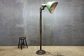 Xxl Gullwing Porcelain Floor Lamp 20th Century Vintage Industrial