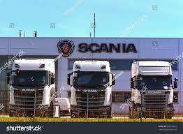 100 Scania Trucks KLAIPEDALITHUANIAMAY 12 SCANIA Showroom Logo Stock Photo