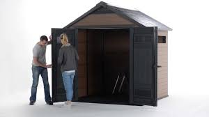 8x6 Wood Storage Shed by How To Assemble Keter Fusion Shed Youtube