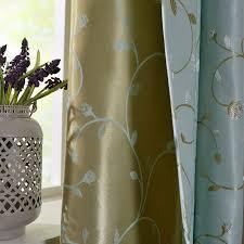 luxcus vorhang grün gold blumenzeige im wohnzimmer