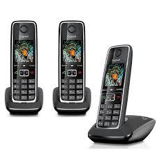 siemens gigaset c530 trio téléphone sans fil 3 combinés