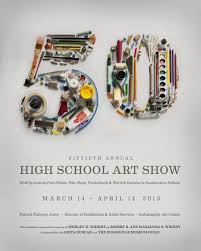 High School Art Show Exhibition Poster