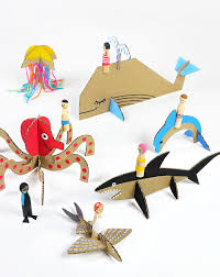 3 Creative Crafts Using Cardboard