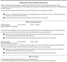 Teacher Aid Resume Preschool Aide Special Education Sample Download