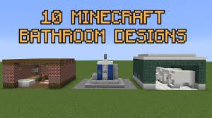 10 minecraft bathroom designs youtube