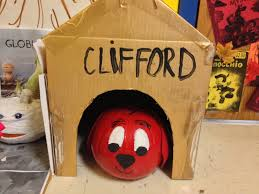 Cliffords Halloween by Book Character Pumpkins Halloween Classroom Pinterest Book