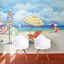 beach and tropical murals beach scene wallpaper