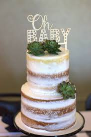 Gorgeous Naked Cake At A Woodland Baby Shower