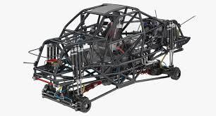 100 Monster Truck Engine 3d Model Monster Truck Bigfoot Frame