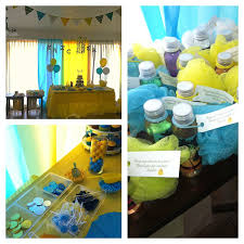 Teal Grey And Yellow Baby Shower Baby Shower Ideas Baby