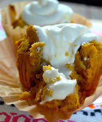 Pumpkin Muffins At Dunkin Donuts 2015 by Pumpkin Muffins Stuffed With Cream Cheese Ever After In The Woods