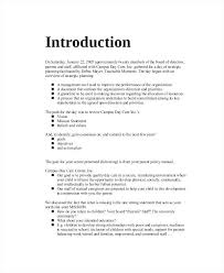Strategic Planning Report Template Sample