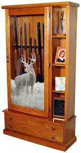 Wooden Gun Cabinet With Etched Glass by Wooden Gun Cabinets Cheap Desk And Cabinet Decoration
