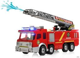 Amazon.com: Memtes Electric Fire Truck Toy With Lights And Sirens ...