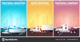 100 Trucking Industry Set Of Posters Logistic And Delivery Semi Truck
