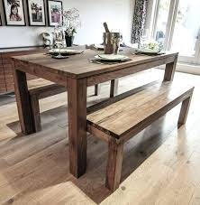 Round Dining Table With Bench Medium Size Of Wood Slab