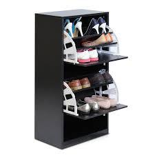 Baxton Simms Shoe Cabinet by Amazon Com Furinno Fnaj 11041 3 Tier 2 Door Shoe Storage Cabinet