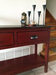 ana white my first build console table from the handbuilt home