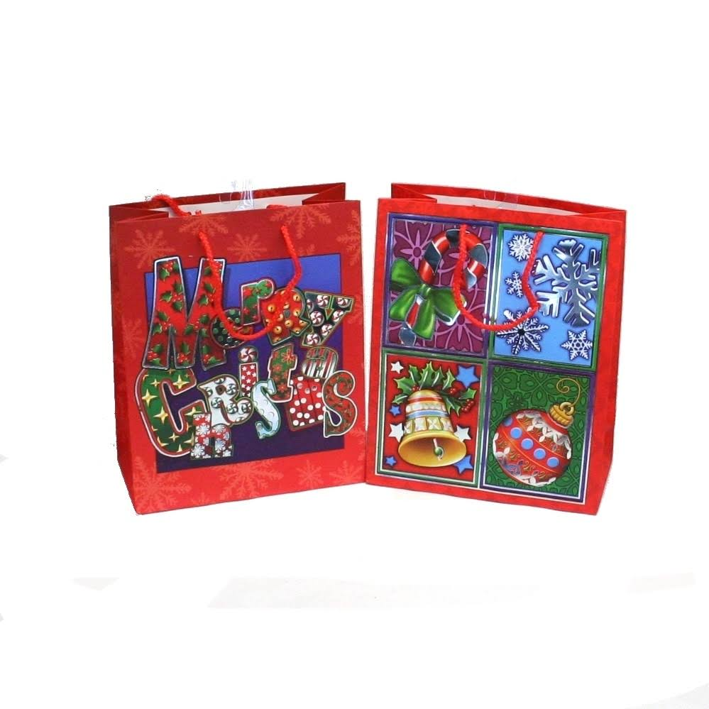 Small Christmas Gift Bags, Size: Cardstock Paper, Assorted