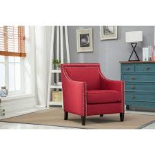 Comfort Pointe Taslo Red Accent Chair