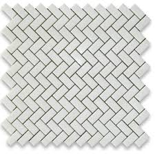12 x12 thassos white herringbone mosaic tile honed chip size 5