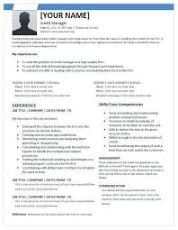 Resume Examples For Credit Manager Packed With
