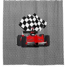 Checkered Flag Curtains Uk by Checkered Flags Shower Curtains Zazzle