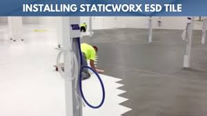 installing staticworx esd tile fast and easy using pyramid method
