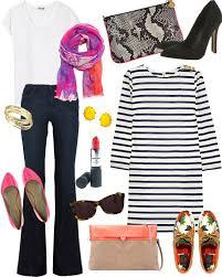 Reiss Silky White Tee Mango Coloured Scarf Stella McCartney Neon Faux Python Clutch Topshop High Pointed Court Shoes Aubin Wills Stripe