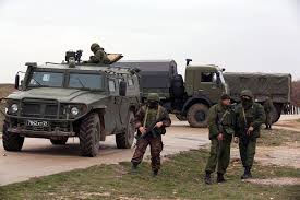 100 Russian Military Trucks Some Local Forces In Crimea Look A Lot Like Military Latimes