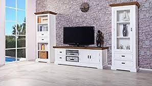 möbelkultura wohnzimmermöbel holz weiß braun 55 x 155 x
