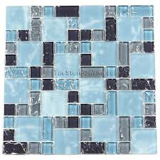 glass tile various sized crackled and frosted glass tile mosaic