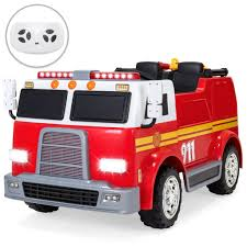 100 Fire Truck Pictures 12V Kids Police Engine Ride On W Remote Control Water