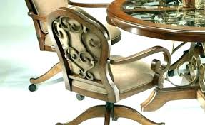 Dining Chairs With Casters Casters Dining Set Casters