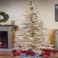 75 Slim Flocked Christmas Tree by Sterling Inc Wyoming Snow Flocked 7 5 U0027 Green Pine Artificial