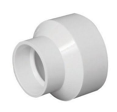 "Charlotte Pipe PVC Increaser Reducer - 1 1/2"" X 2"""