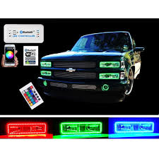 100 1989 Gmc Truck 198898 Chevy GMC MultiColor Changing LED RGB Headlight Halo Ring