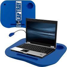 laptop lap desk portable with foam cushion led desk light and