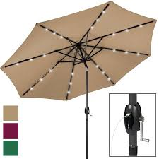 Walmart Patio Tilt Umbrellas by Portable Usb Charger Bank 10 U0027 Led Light Patio Solar Umbrella Tilt