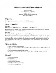 Resume Objectives For Clerical Positions Study ... Clerical Cover Letter Example Tips Resume Genius Sample Administrative New Rumes Examples Of 15 Mmus Form Provides Your Chronological Order Of Objectives For Positions Study Cv Samples Office Job Post Objective 10 Data Entry Jobs Proposal Letter Free Elegant Inventory Clerk What Makes Information 910 Examples Clerical Rumes Soft555com