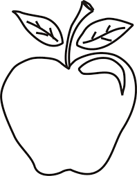 Free Coloring Pages Of Outline An Apple