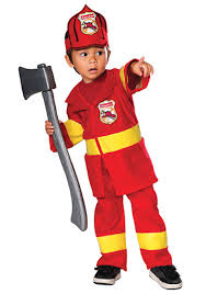 Toddler Red Firefighter Costume - Fireman Toddler Halloween Costumes