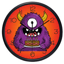 horloge chambre bébé bande dessinée monoculaire monstre horloge murale chambre de bébé